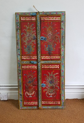 Indian Hand Painted Shutters - ***SOLD***