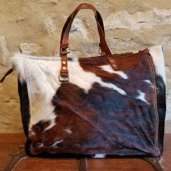 Cowhide Weekender Bag, a real statement piece!