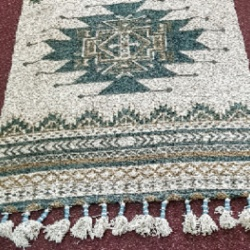 Jute Printed Rug with Tassels