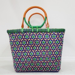 Medium Mowgs Recycled Strapping Hand Woven Petal Basket