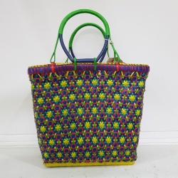 Small Mowgs Recycled Strapping Hand Woven Petal Basket